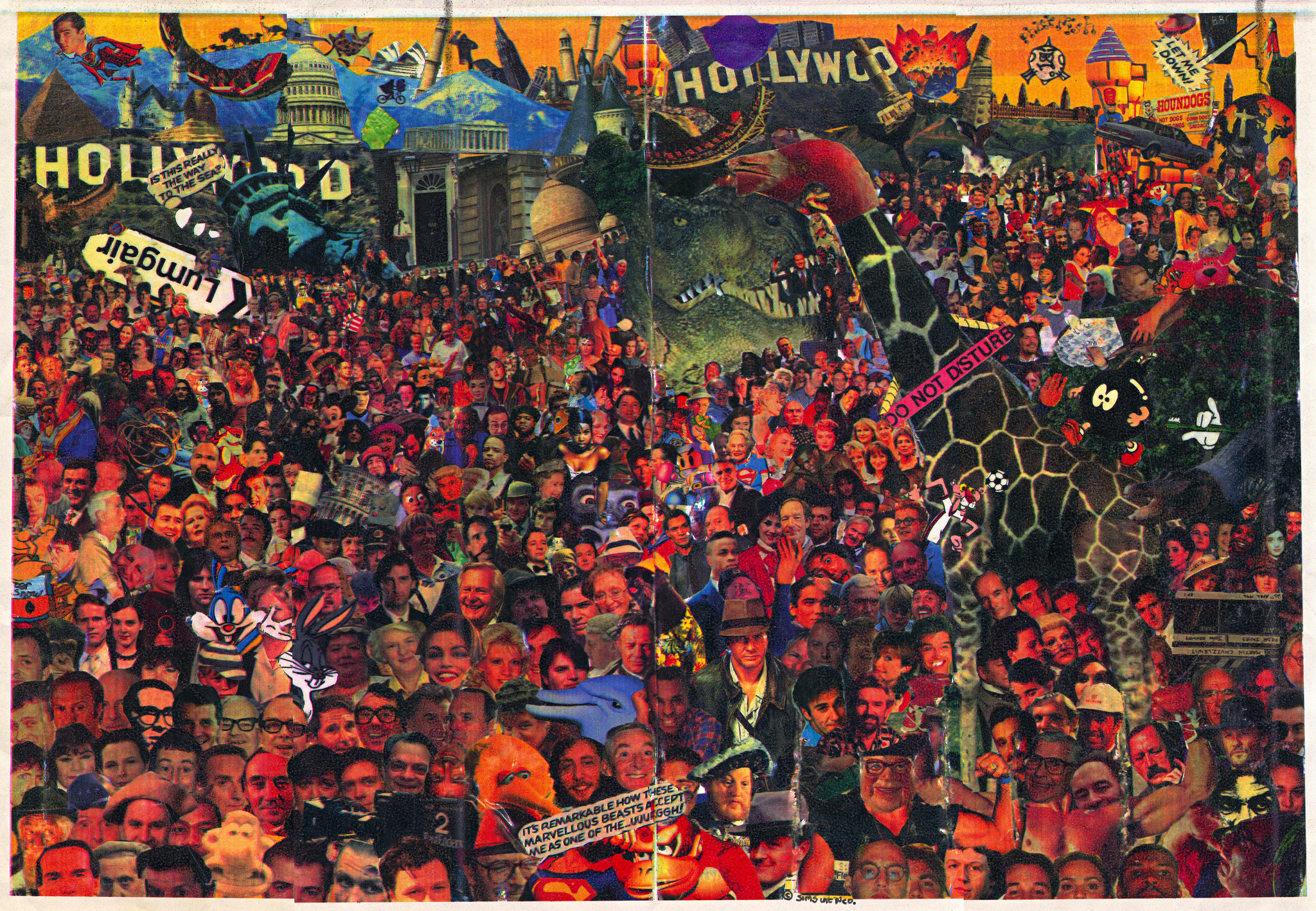 Crowd Scenes Paintings a Crowd Scene Created From
